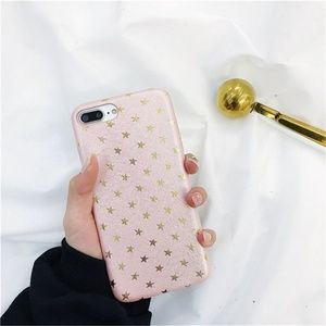 Accessories - NEW iPhone 7+/8+ Pink and Gold Stars Case